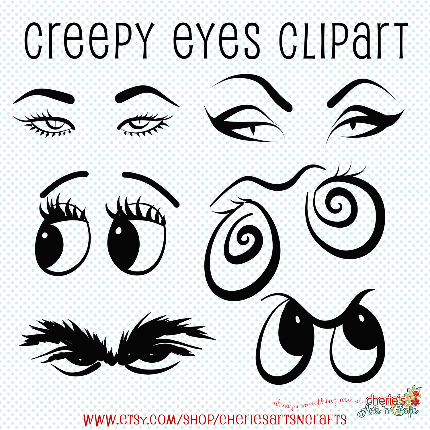 1500x1500 Creepy Eyes Clip Art Halloween Clip Art Eyes Clipart Creepy