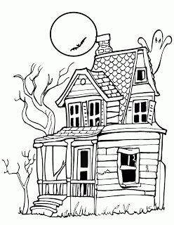 Creepy House Drawing