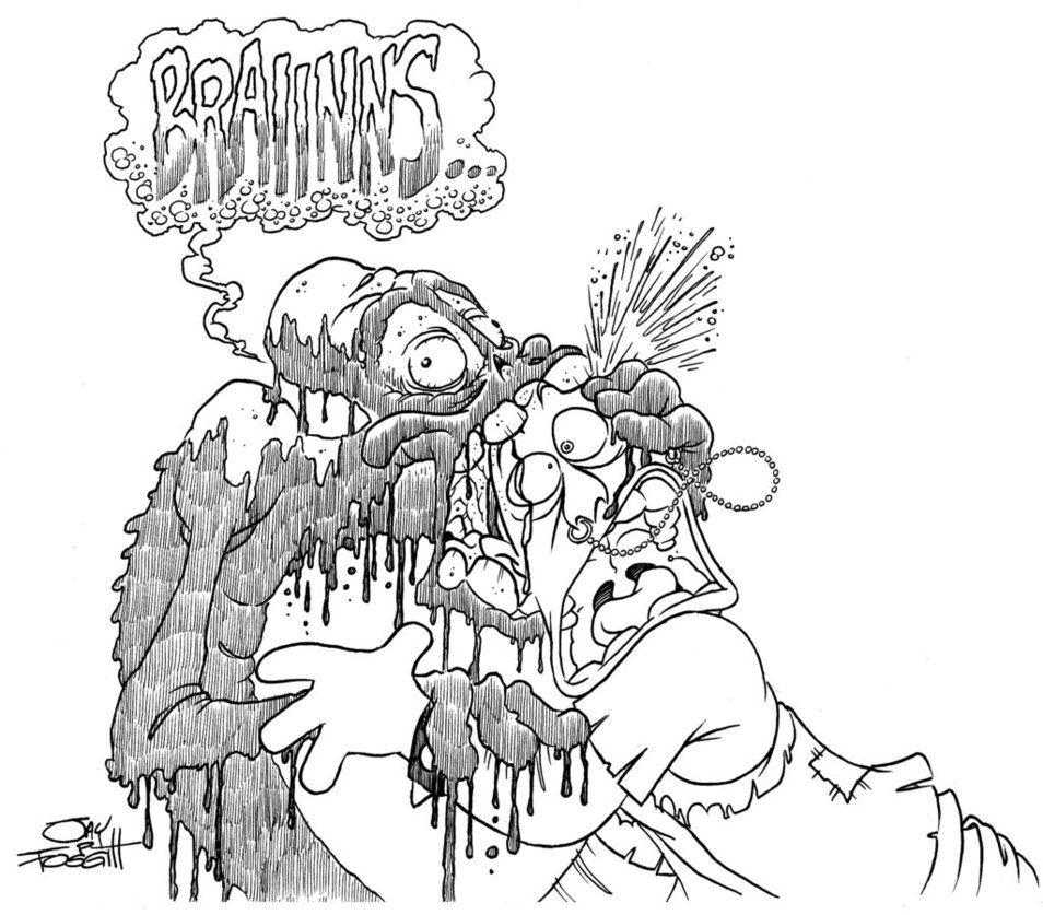 954x837 October Monster Sketch