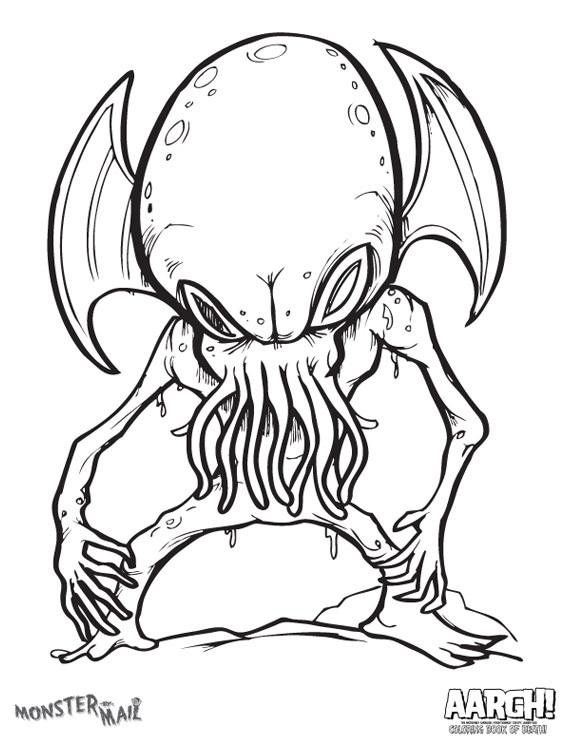 571x754 Aargh The Incredibly Ghoulish, Frighteningly Creepy Coloring Book