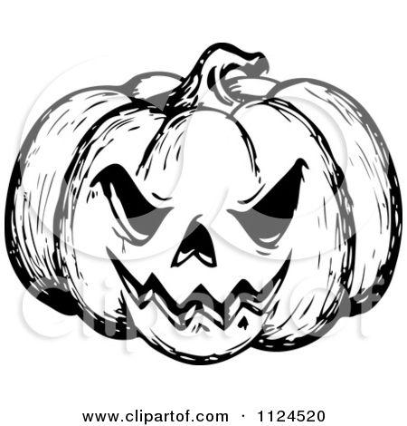Creepy Pumpkin Drawing at GetDrawings.com | Free for personal use ...