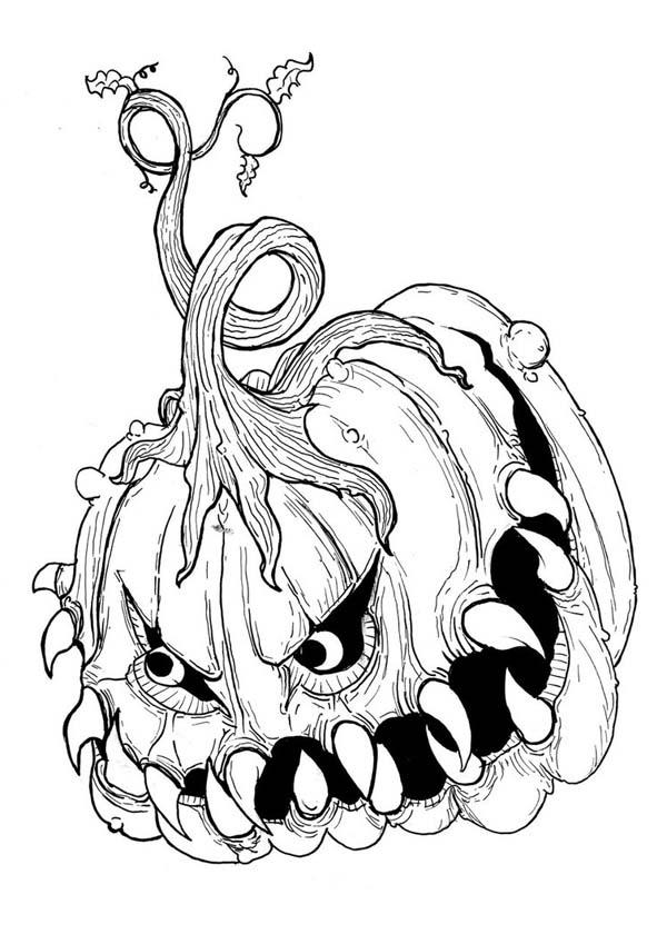 Creepy Pumpkin Drawing at GetDrawings   Free download