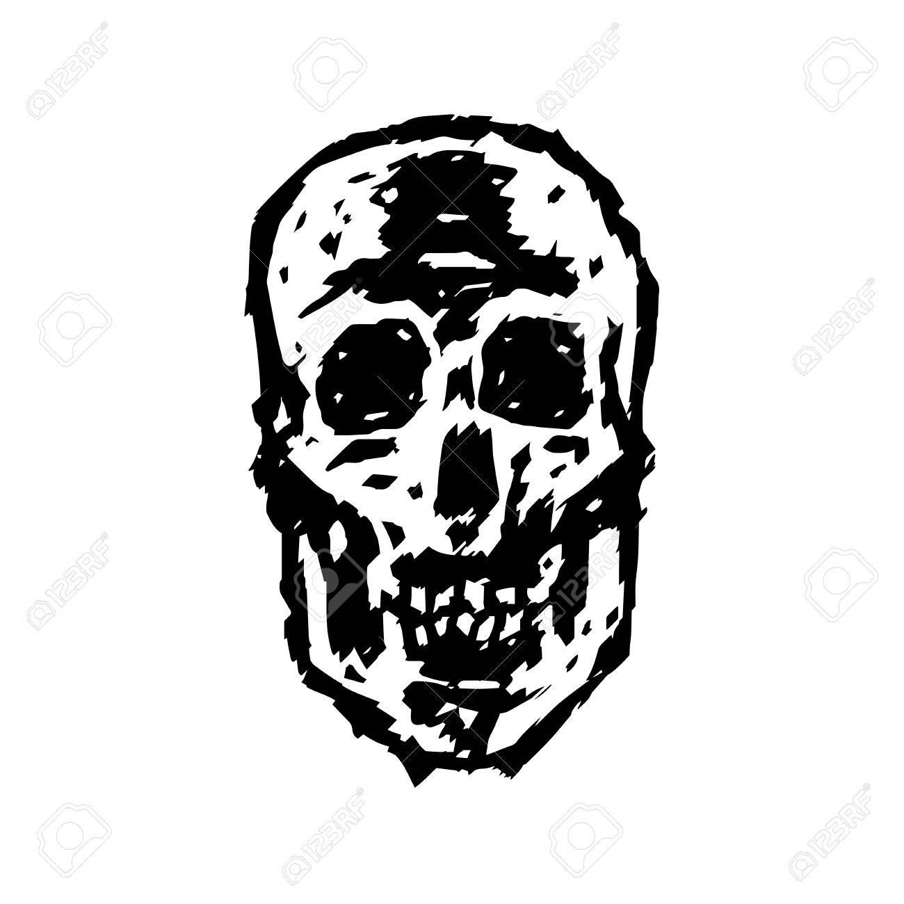 1300x1300 Scary Grim Skull. Horror Character. Creepy,mask. Vector