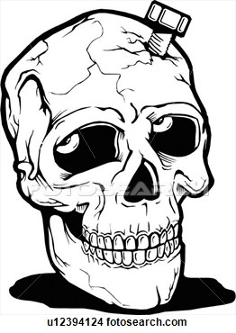 262x370 Scary Skeleton Clipart