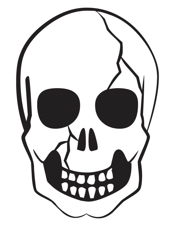 612x792 Scary Skull Coloring Pages Print Download Free Scary Skull