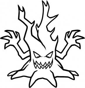 292x302 How To Draw A Halloween Tree 9 Steps