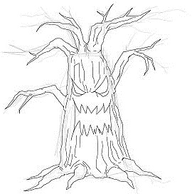 270x272 How To Draw A Spooky Halloween Tree