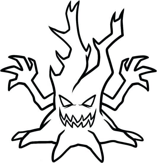 530x548 Spooky Halloween Tree Spooky Tree Diy Spooky Halloween Tree Prop