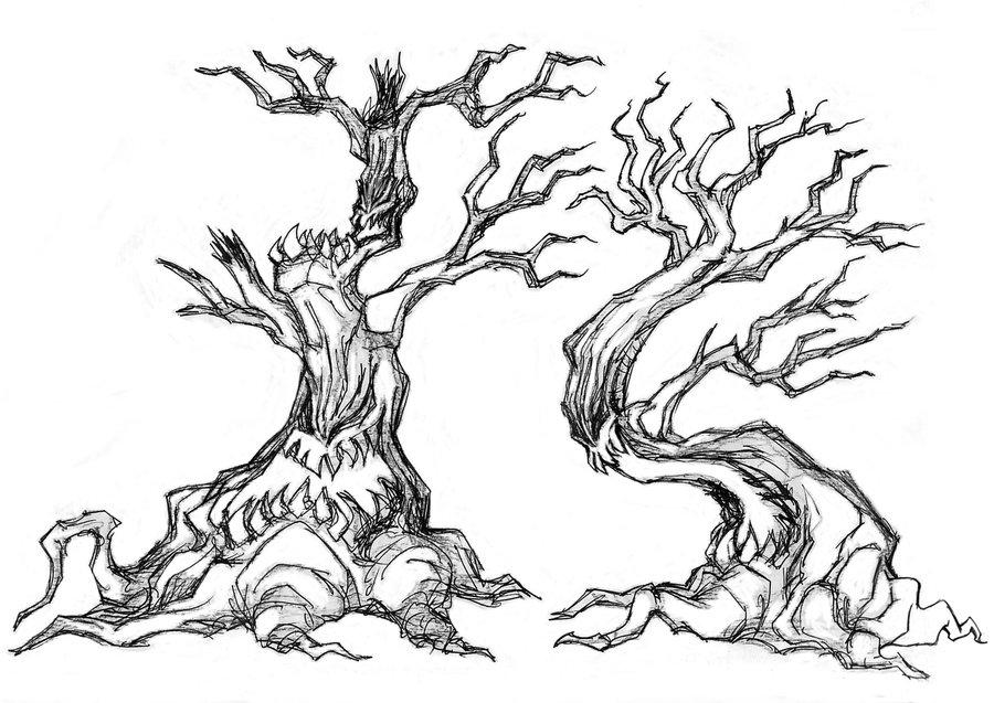 900x637 Creepy Tree Doodle 001 By Bdtxiii