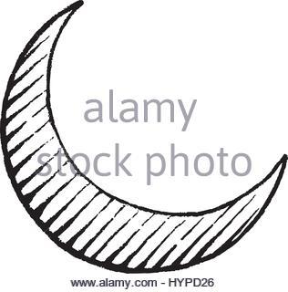 316x320 Crescent Moon Icon, Cartoon Style Stock Vector Art Amp Illustration