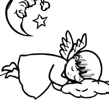350x350 Crescent Moon Coloring Page Crescent Moon Coloring Pages Printable