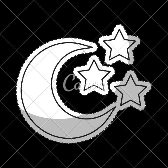550x550 Crescent Moon Icon Image