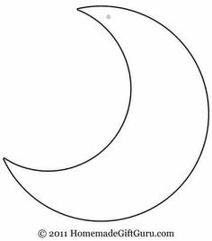 236x268 Crescent Moon Pattern. Use The Printable Outline For Crafts