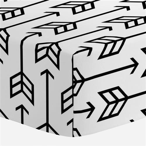 500x500 Black Arrow Crib Sheet Carousel Designs