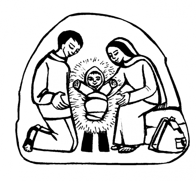 640x591 Crib Jesus Caritas