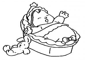296x210 Baby Crib Coloring Pages