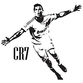 350x350 Cristiano Ronaldo Cr7 Real Madrid Wall Art Decal Sticker Black