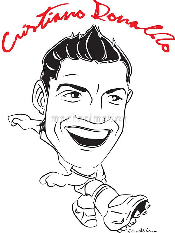 600x800 Cristiano Ronaldo Caricature Stickers By Mechanimation Redbubble