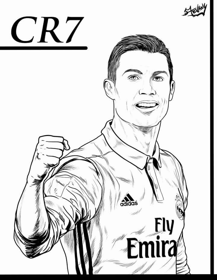 720x931 Cristiano Ronaldo Desenho Por Stevany Art Cuadros