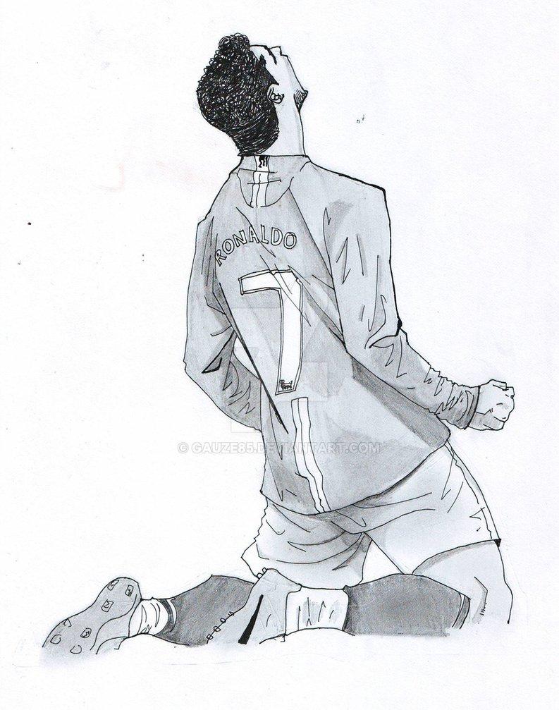 793x1007 Cristiano Ronaldo Sketch By Gauze85
