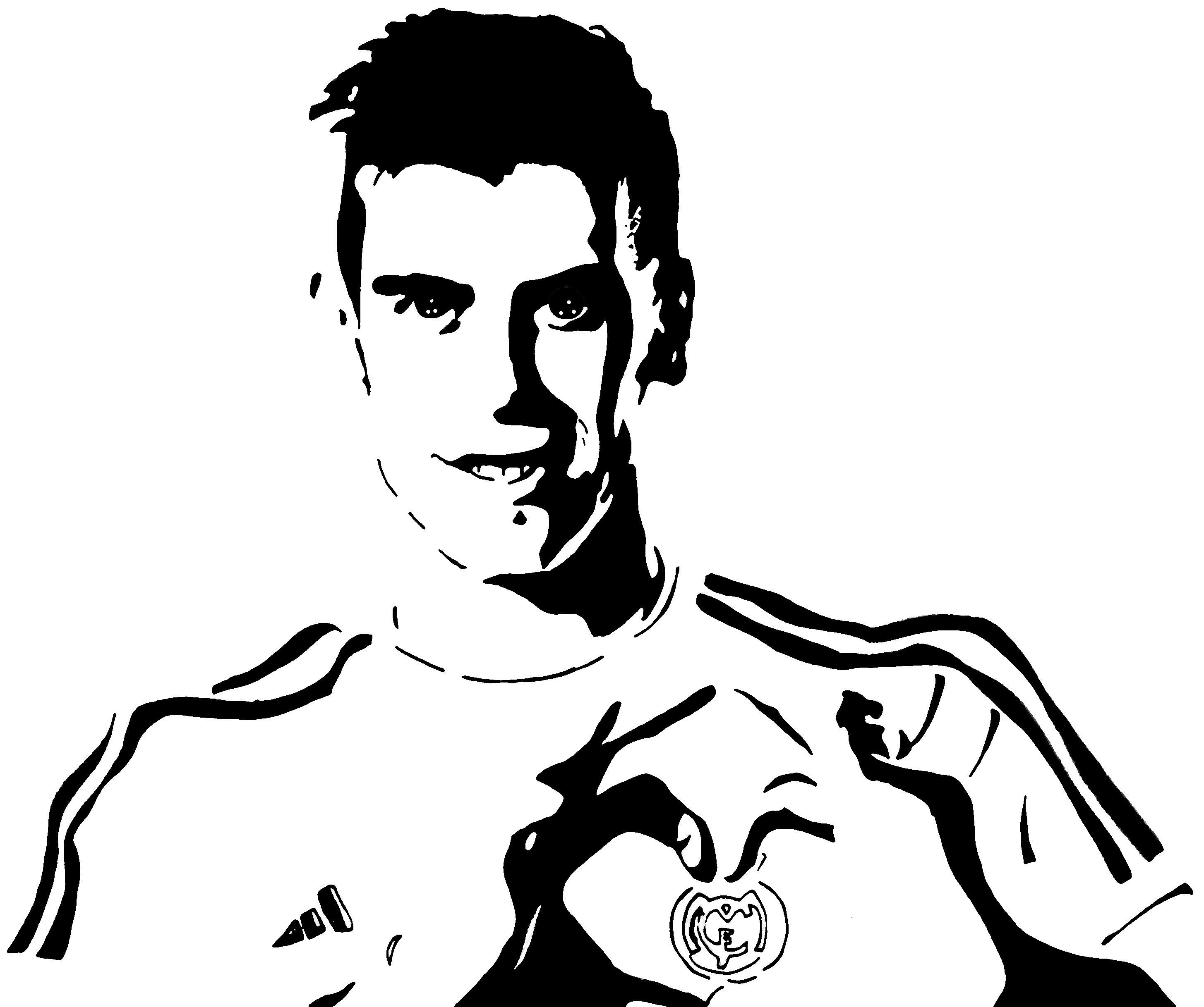 Frais Dessin A Colorier Foot Ronaldo