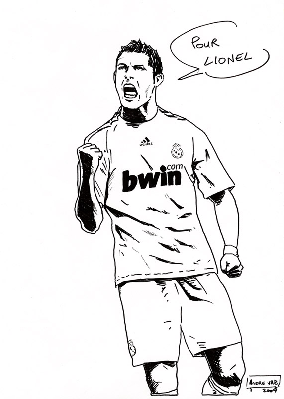 Cristiano ronaldo drawing at free for personal use cristiano ronaldo drawing - Ronaldo coloriage ...