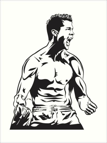 413x549 Cristiano Ronaldo Art Prints By Sukokek Redbubble