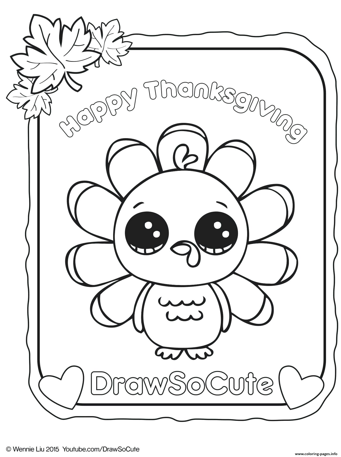 1453x1945 Coloring Page Turkey Drawing Outline Printable
