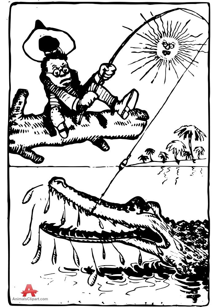 Crocodiles Drawing
