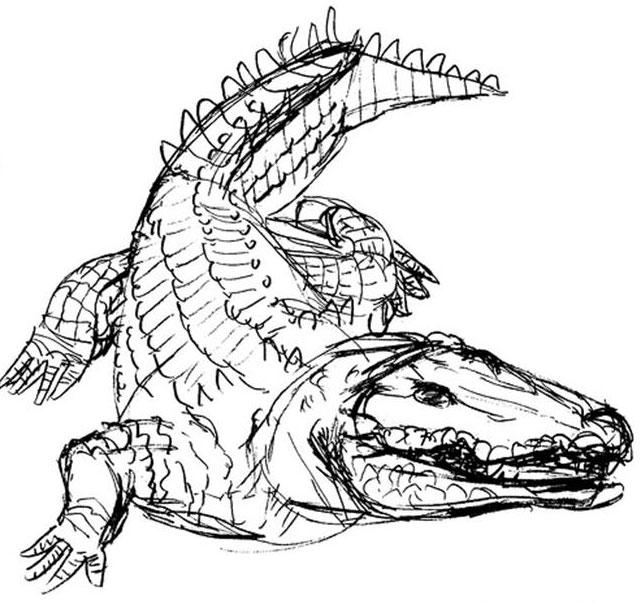 Crocodiles Drawing at GetDrawings.com | Free for personal use ...