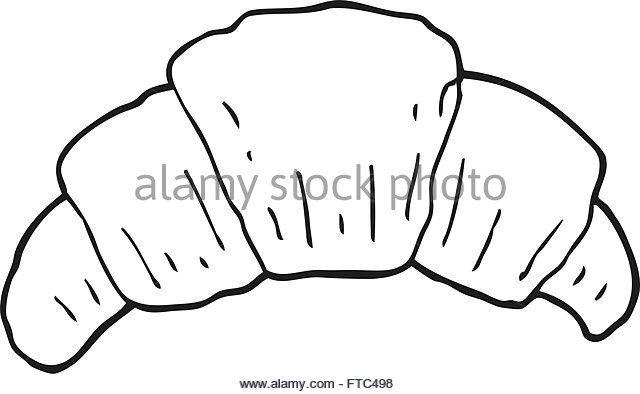 640x394 Freehand Drawn Cartoon Croissant Stock Photos Amp Freehand Drawn