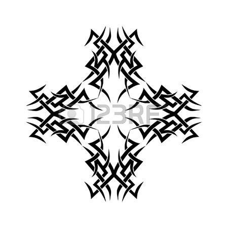 450x450 Tattoo Tribal Cross Designs. Royalty Free Cliparts, Vectors,