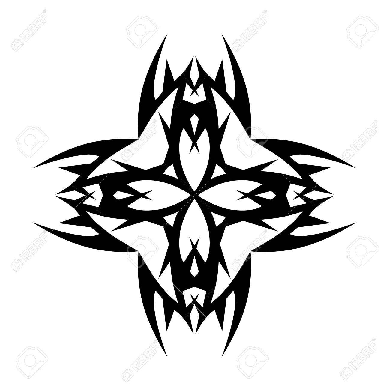 1300x1300 Tattoo Tribal Cross Designs. Vector Sketch Of A Tattoo. Art Tribal
