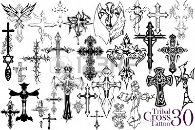 400x266 Best Tribal Tattoo Gallery Iron Cross Sticker