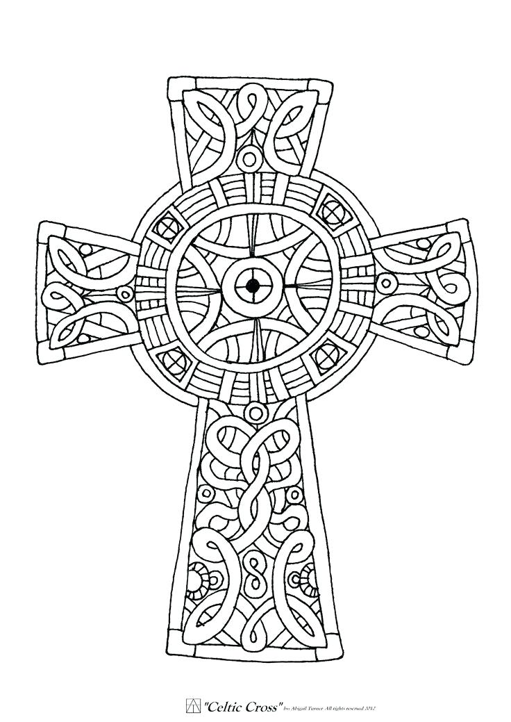 736x1039 Awesome Coloring Pages Crosses Free Download The Best Cross Page
