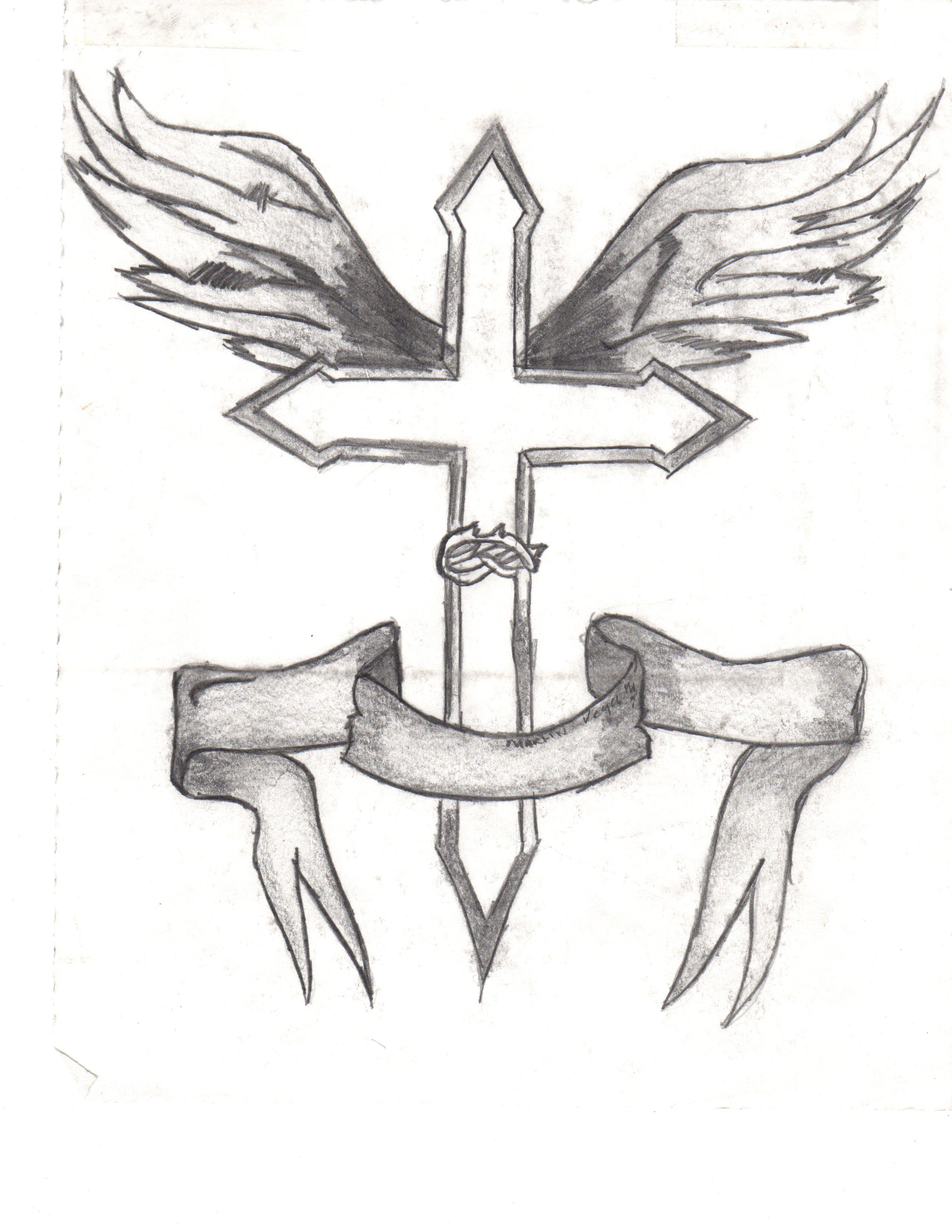 2550x3300 Simple Cross Sketching Pencil Simple Cross Sketching