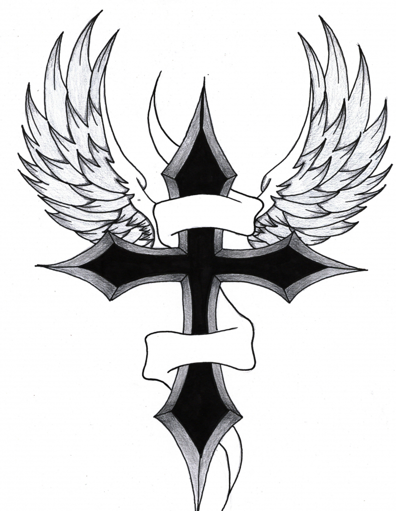 794x1024 Drawings Of Crosses How To Draw A Cross Tattoo Step Step Tattoos
