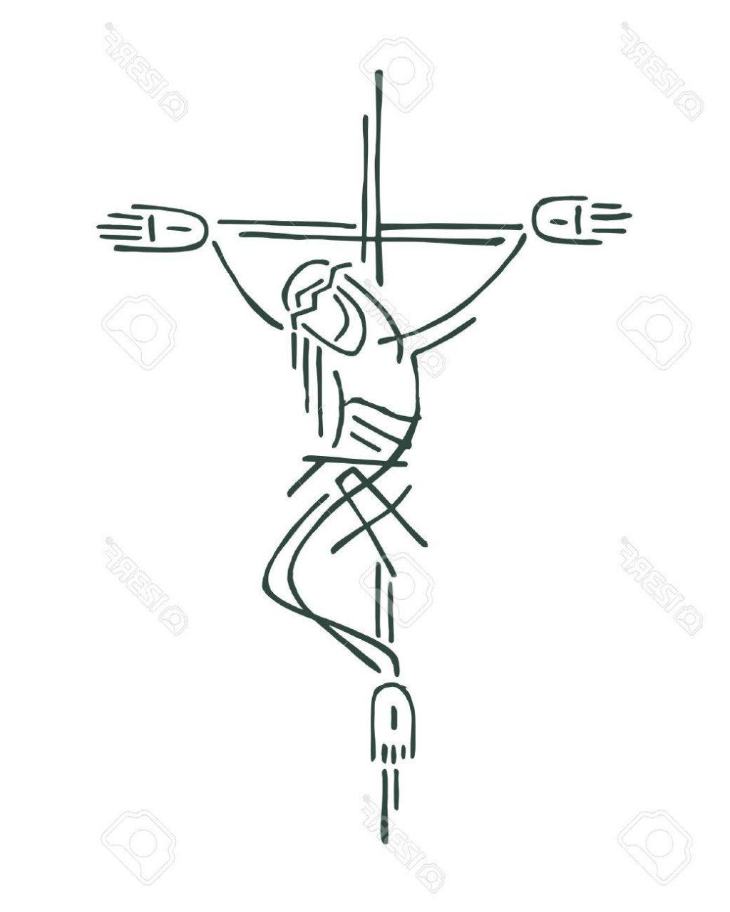 1024x1280 Top Drawn Cross Jesus Image