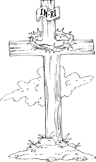 329x556 Wooden Cross Drawing Wooden Cross Coloring Page Coloring Clip Art
