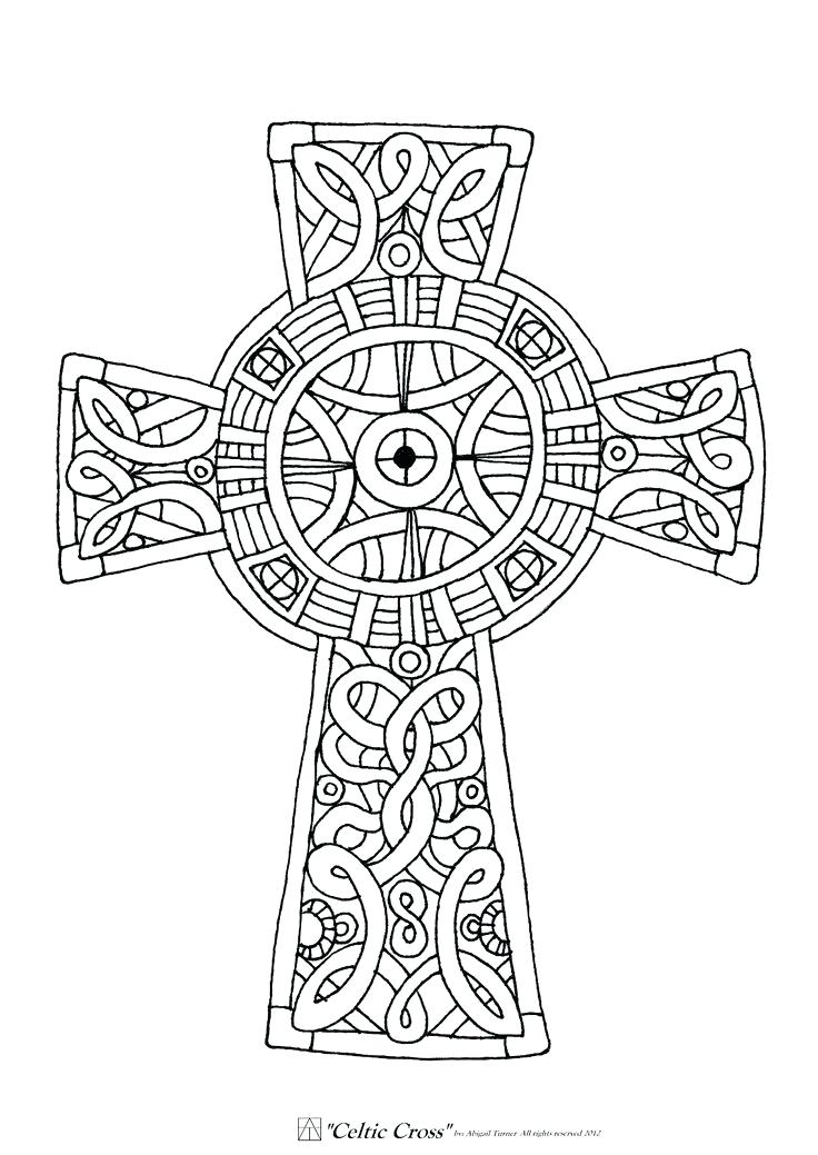 736x1039 Coloring Pages Crosses