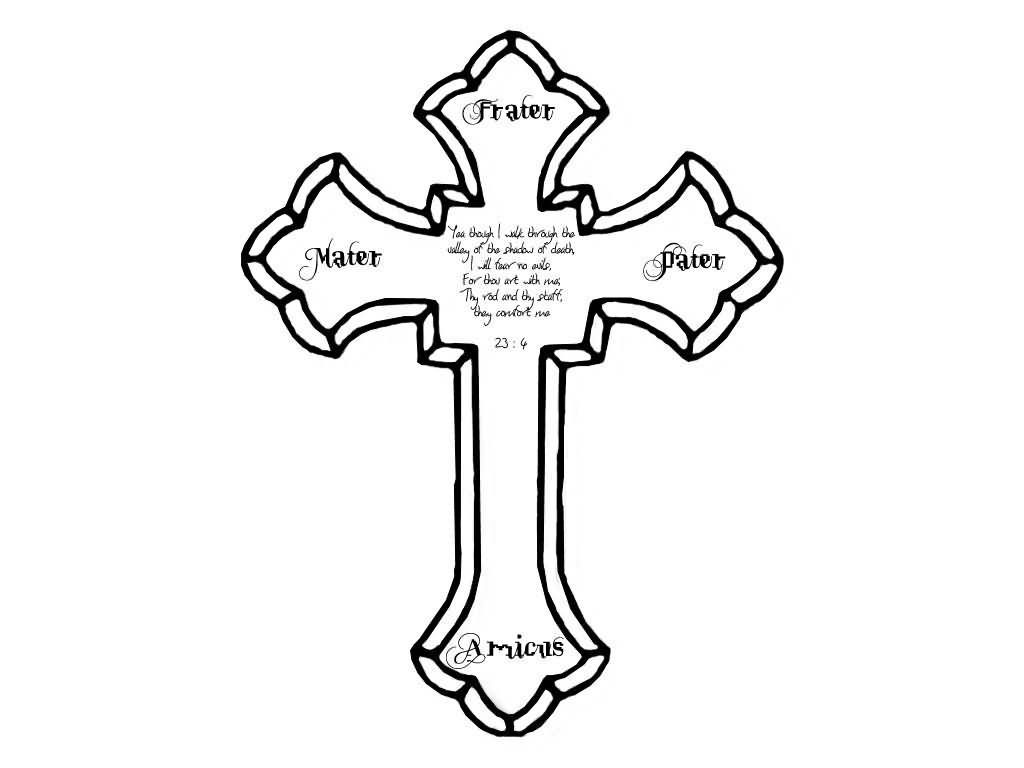 1024x768 Collection Of Nice Cross Tattoo Drawing