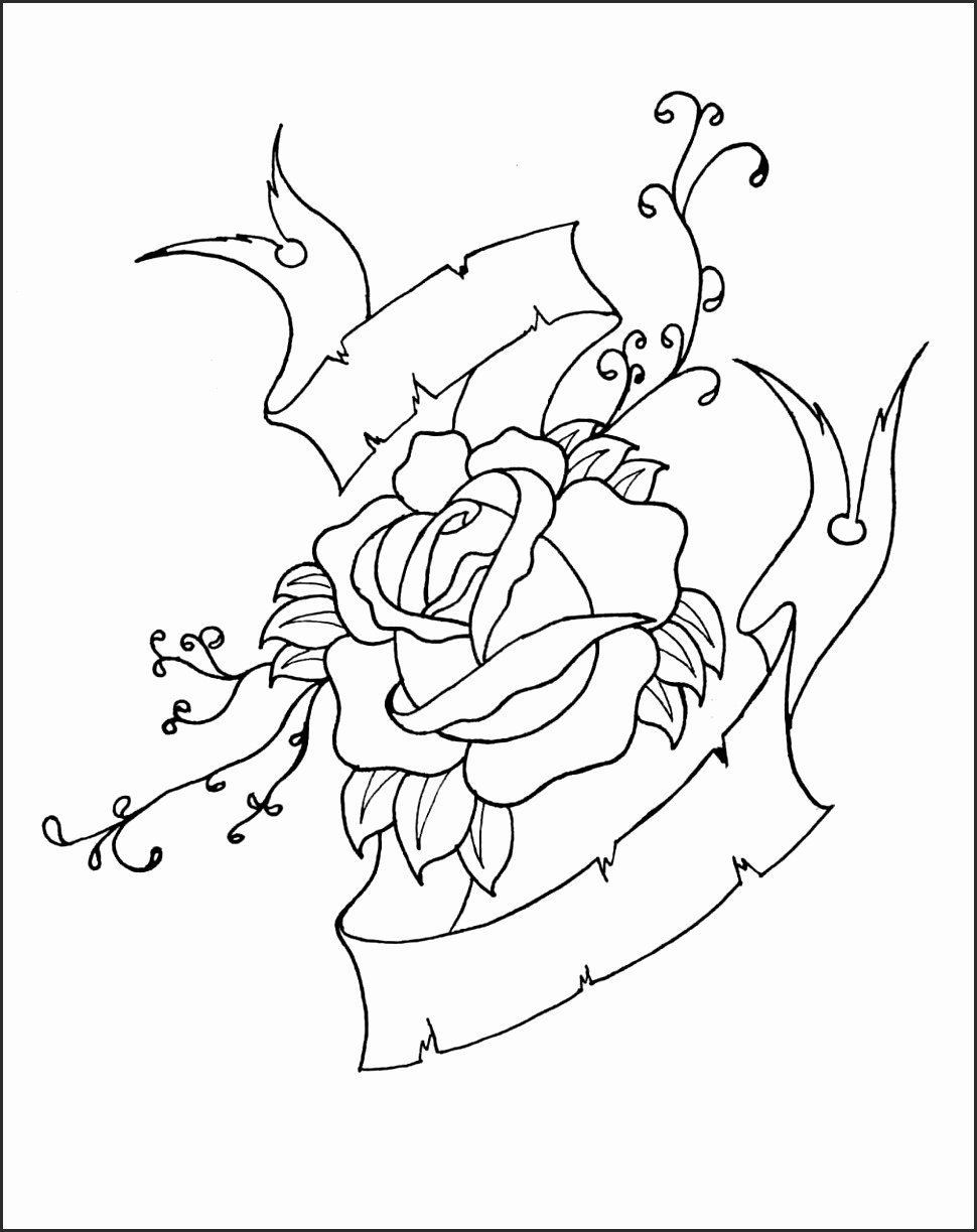 970x1223 How To Draw A Cross With Roses Faavs Elegant Skull And Rose