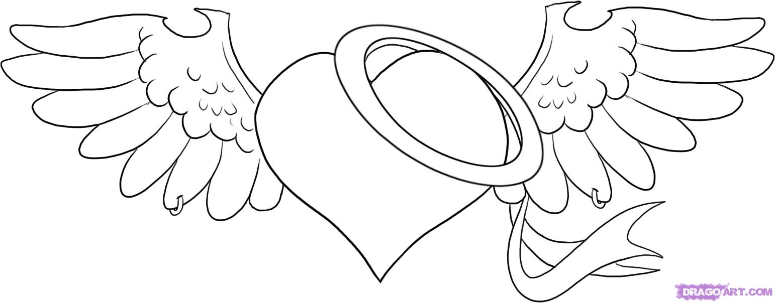 1542x604 How To Draw A Heart With A Rose Step By Step Tattoos Pop Home
