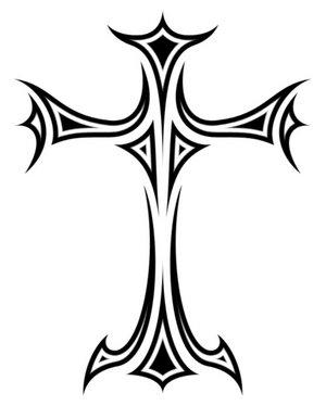 Cross Drawing Tattoo