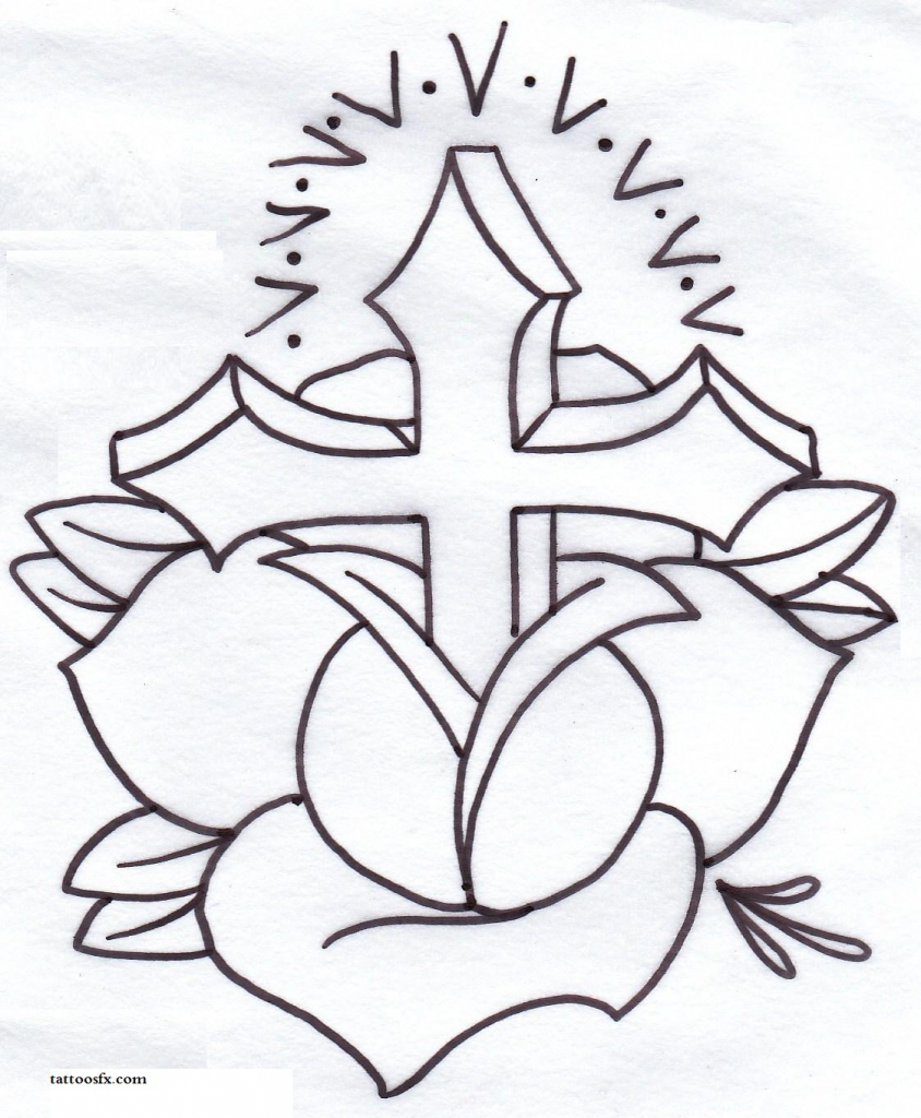 844x1024 Drawings Of Crosses How To Draw A Cross Tattoo Step Step Tattoos
