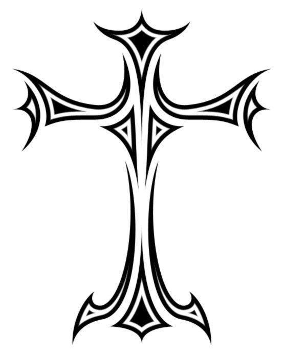 555x691 Drawn Cross Trible