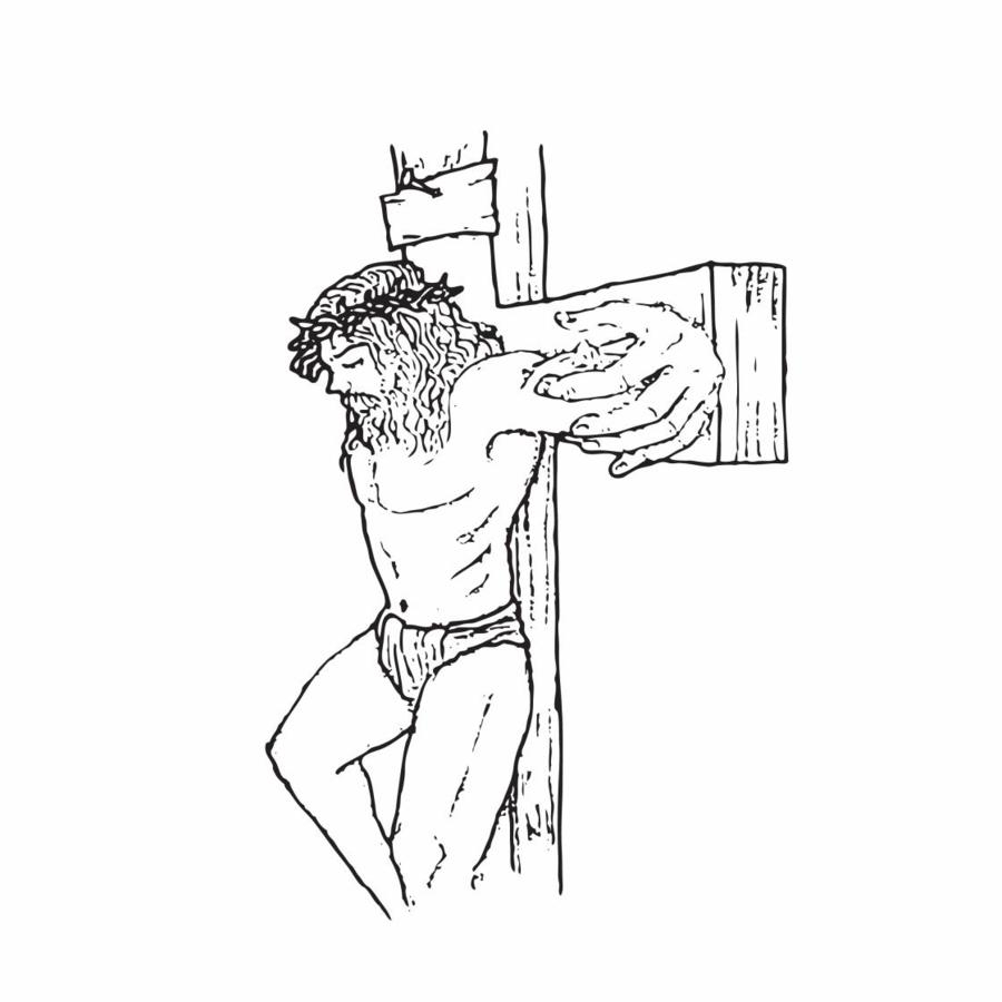 900x900 Stencil Drawings Of Jesus Jesus On Cross Tattoo Stencil Pictures