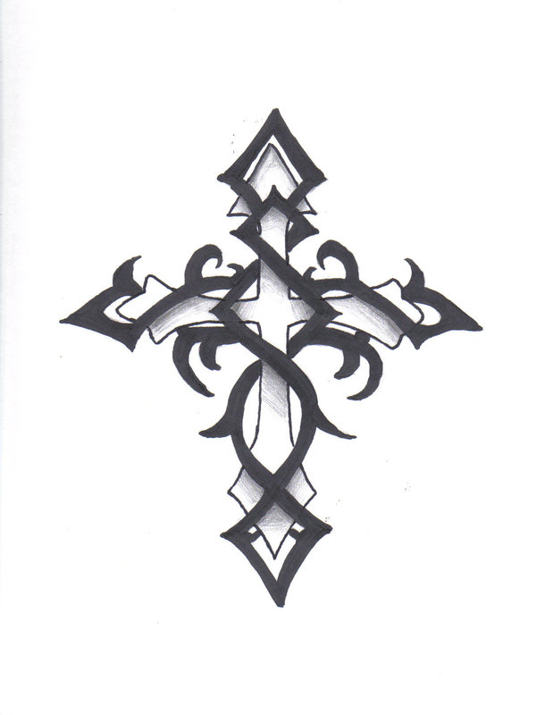 600x800 Tribal Cross Tattoo Sample In 2017 Real Photo, Pictures, Images