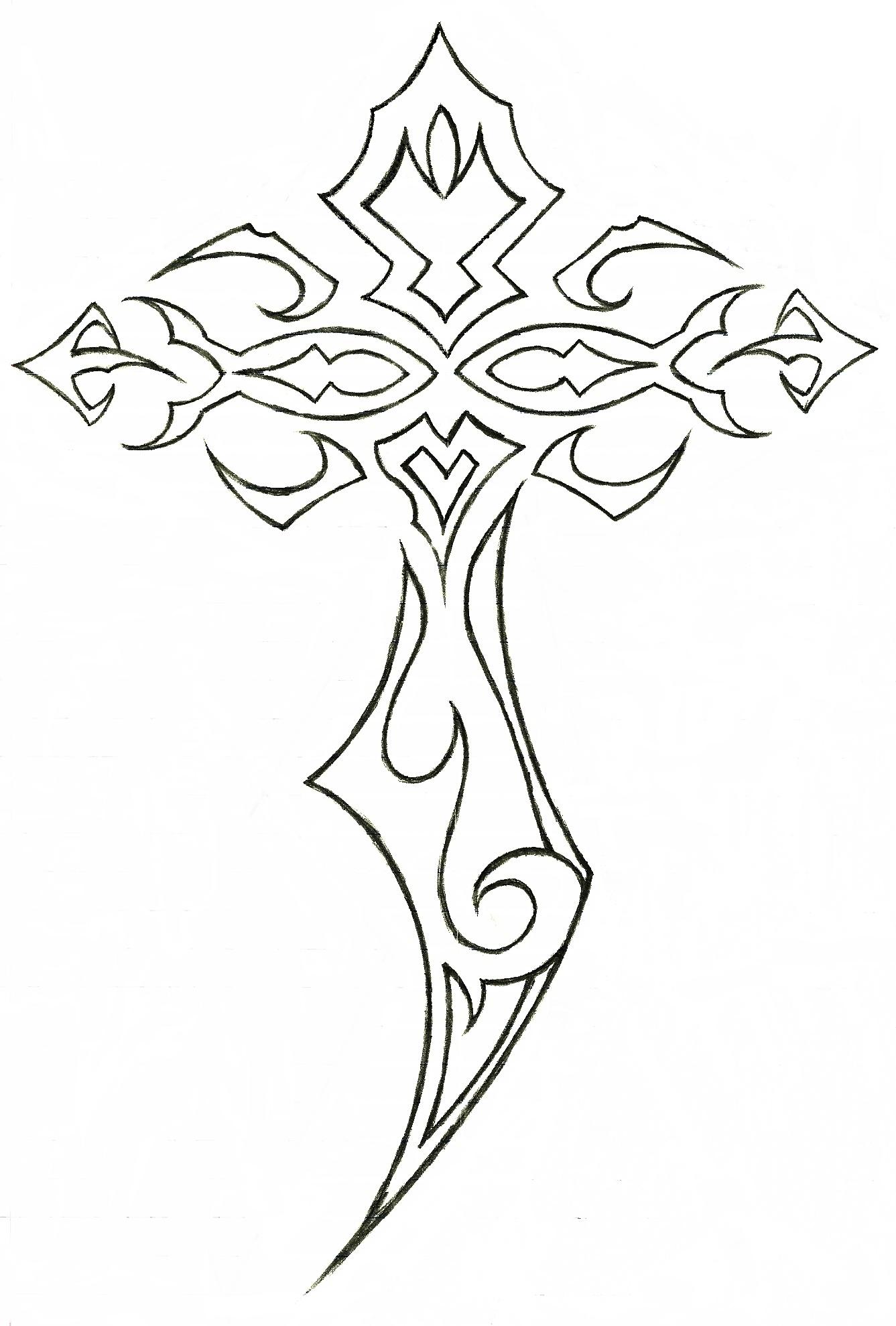 1337x1979 Tribal Cross Tattoos 20 Tribal Cross Tattoos For Men