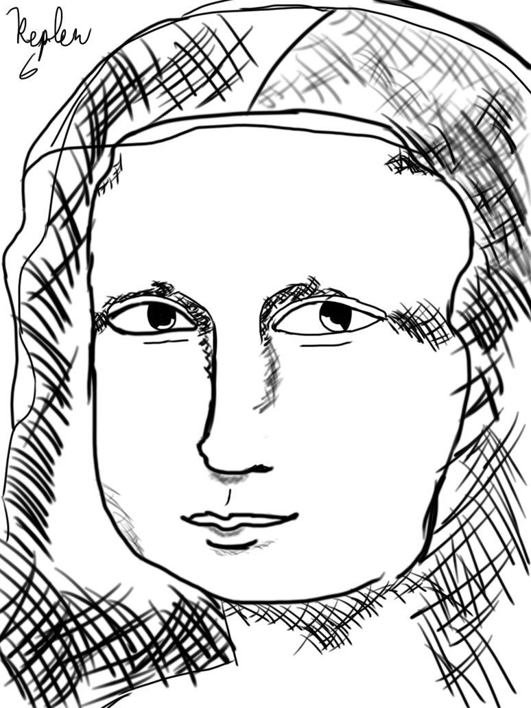774x1032 Mona Lisa Cross Hatching By Kepler6